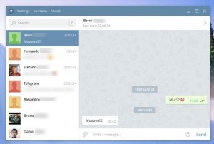 Conversation window of telegram client